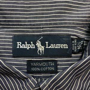 Polo by Ralph Lauren Shirts - Polo Ralph Lauren Navy w/ White Stripe Shirt L